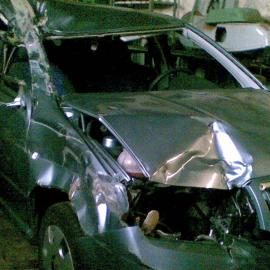 Auto rodičů po autonehodě v r. 2007